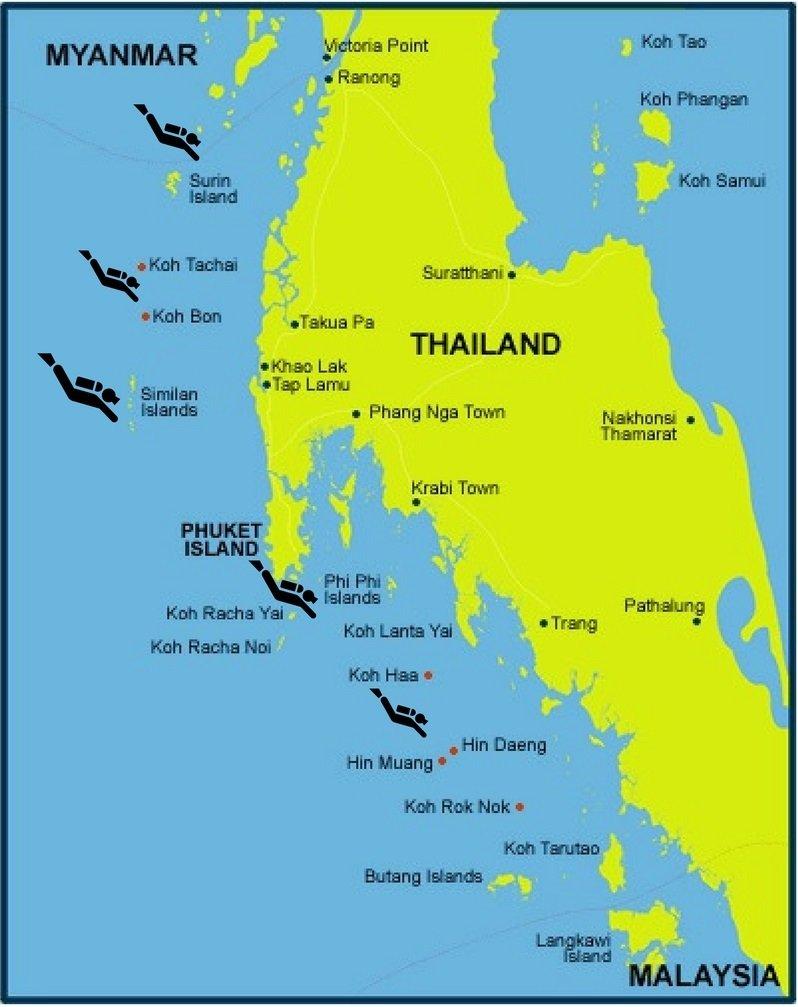 Thailand Andaman Sea Dive Sites