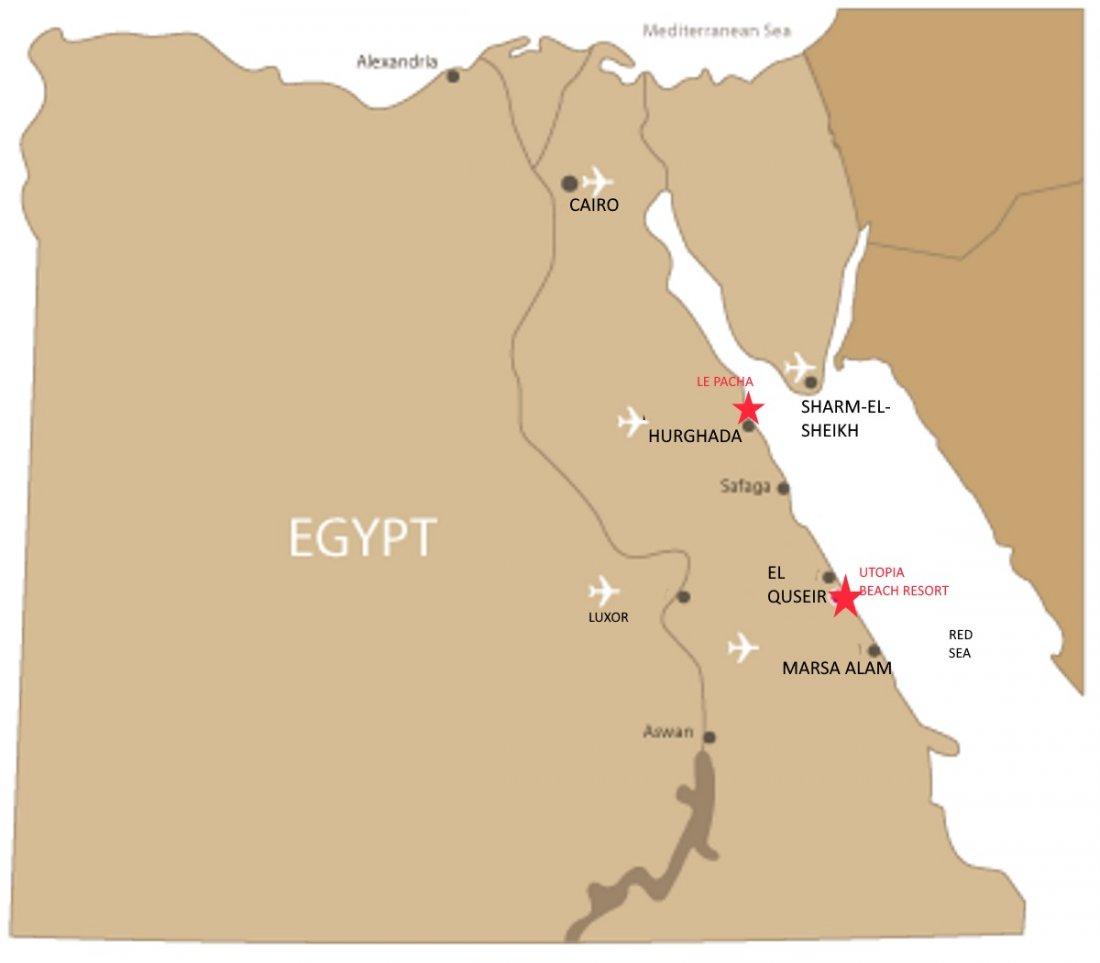 Egypt Travel Information - Map of egypt marsa alam