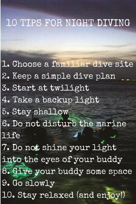 10 Night Diving Tips